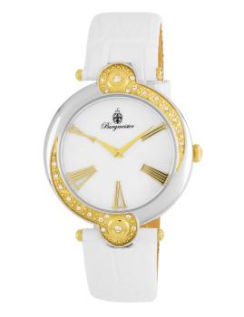 Relógio Burgmeister Garland Branco e Madre Pérola