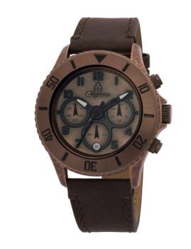 Relógio Burgmeister Vintage Dourado Rosa e Castanho
