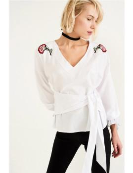 Blusa SHOT Bordados Branca Ref 114