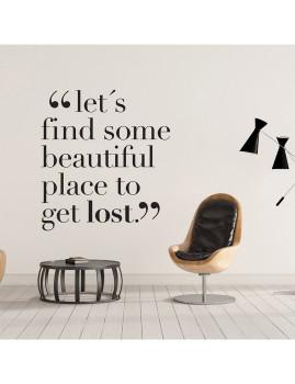 Let´s Get Lost vinil decorativo