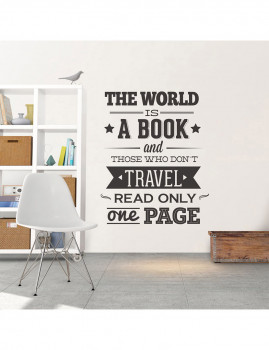 The World is a Book vinil decorativo XL