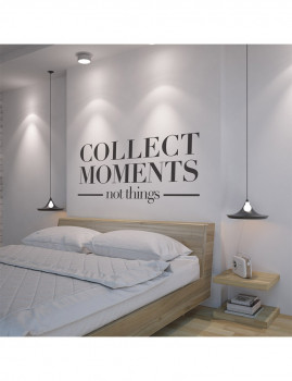 Collect Moments Not Things vinil decorativo XL