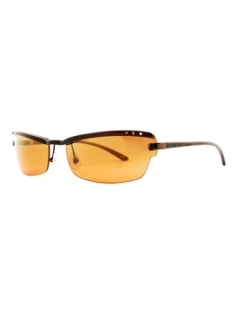 Óculos de Sol Retangulares Lentes Laranja Guess