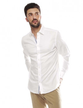 Camisa Hackett Wht Textured Multicolor Trm Branco