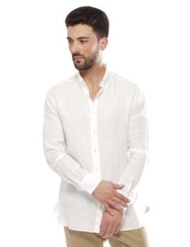 Camisa Hackett Solid Linen Branco