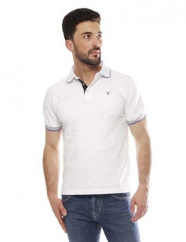 Polo Hackett Multicolor Col Trim Branco