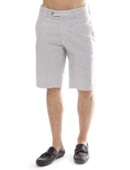 Calções Hackett Cott Lin Stripe Short Branco e Azul