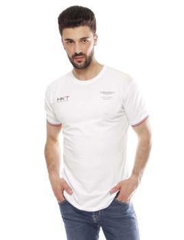 T-shirt Hackett Amr Lt Wt Tee Branco