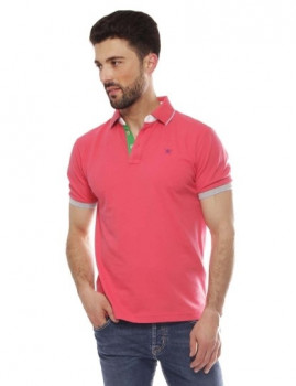 Polo Hackett Multicolor Col Trim Coral