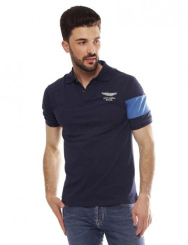 Polo Hackett Amr Back Stripe Azul navy e Azul
