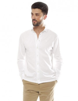 Camisa Hackett  Gmt Dye Pq Branco