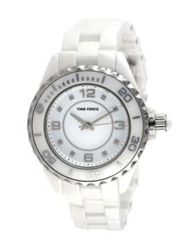 Relógio Time Force Analógico Branco&Prateado