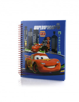 Caderno Cars Azul