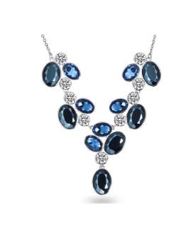 Fio C/ Elementos Swarovski®Prateado VII Saint Francis Crystals
