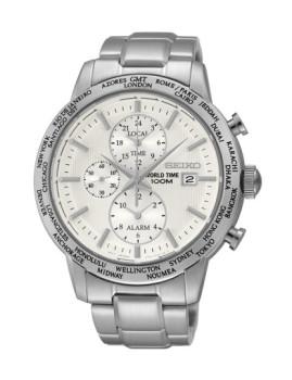 Relógio Seiko Quartz Casual Lifestyle Prateado e Branco