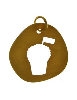 Medalha Prata Dourada Mangerico
