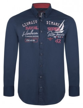 Camisa Giorgio di Mare Azul Navy