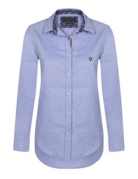 Camisa Sir Raymond Tailor Oxford Azul Indigo