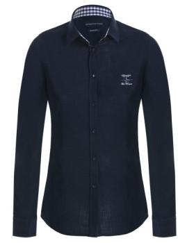 Camisa de Linho Giorgio di Mare Azul Navy