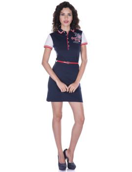 Vestido de Senhora Manga curta Giorgio di Mare Azul Navy