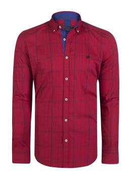 Camisa Homem Felix Hardy Vermelho e Marinho