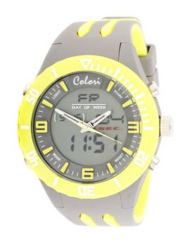 Relógio Colori Cinza&Amarelo
