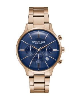 Relógio Homem Kenneth Cole Rosa Dourado e Azul