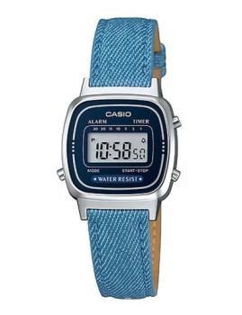 Relógio Cásio Retro Vintage Quadrado Azul