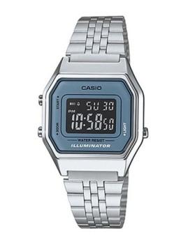 Relógio Cásio Retro Vintage Quadrado Prateado