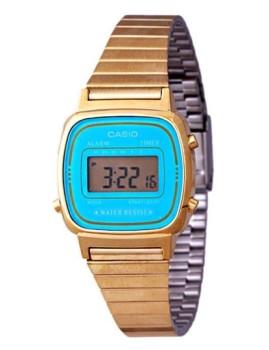 Relógio Cásio Retro Vintage Quadrado Dourado