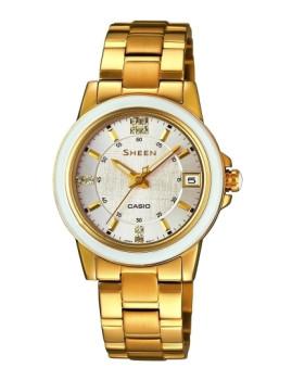 Relógio Cásio Sheen Redondo Dourado