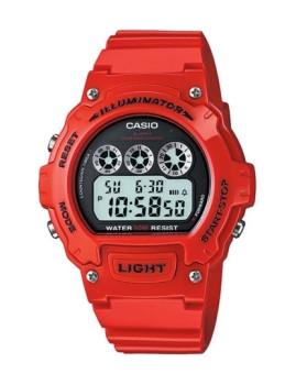 Relógio Cásio Sports Redondo Vermelho