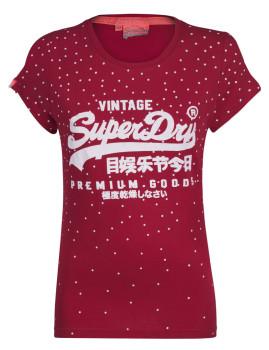 T-Shirt SuperDry Senhora Escarlate