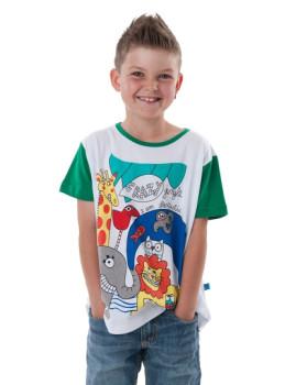 T-Shirt Selva De Criança Branco Menino