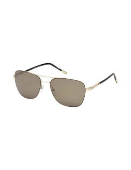 Óculos de Sol Montblanc Homem Dourado e Castanho