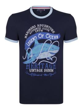 T-Shirt Giorgio di Mare Homem Azul Marinho