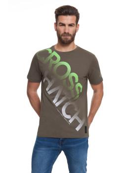 T-shirt Homem Letterman Caqui