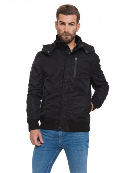 Casaco Bomber Hoodie Lonsdale Preto