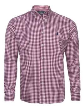 Camisa Ralph Lauren Xadrez Homem Branca e Vermelha