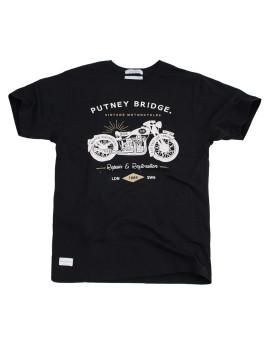 T-Shirt   Putney Bridge Motorcycles Preto