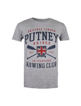 T-Shirt  Putney Bridge Champion Rowing Cinza Mesclada