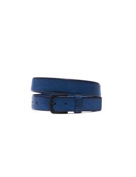Cinto de Couro Bikkembergs Azul