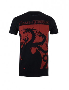 T-shirt Iconic Collection Targaryen Sigil Preto