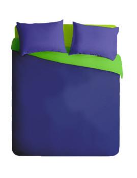 Conjunto com Capa de Edredon Micro 1 Azul