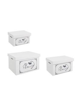 imagem de Set3 Caixas Family Retangulares Brancas1