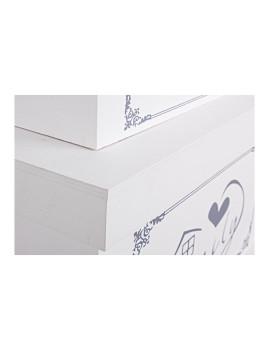 imagem de Set3 Caixas Family Retangulares Brancas3
