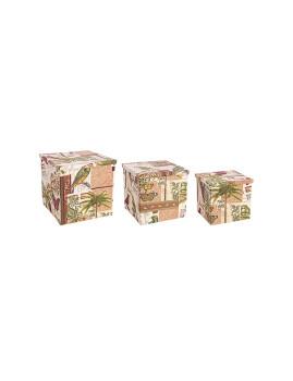 imagem de Set3 Caixas Botanic Pleg Vermelho1