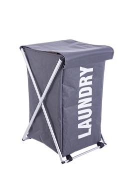 imagem de Cestos De Roupa Pleg Laundry Cinza Escuro 1