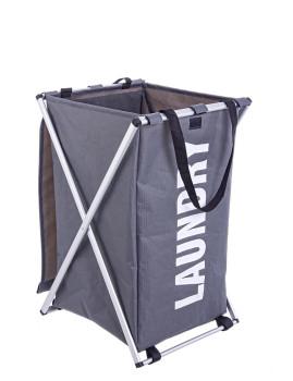 imagem de Cestos De Roupa Pleg Laundry Cinza Escuro 2