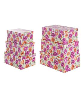 imagem de Set6 Caixas Queen Opacas Rosa1